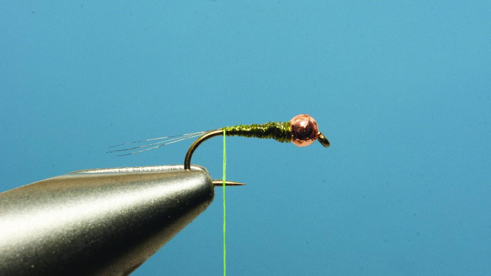 Step 2 tying instructions for the Pliva Perdigon Nymph