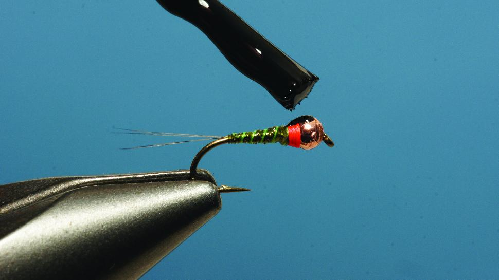 Step 5 tying instructions for the Pliva Perdigon Nymph