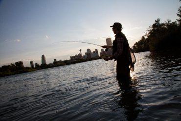Fly fishing at Bow River