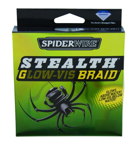 Spiderwire Stealth Glo-Vis Braided Line