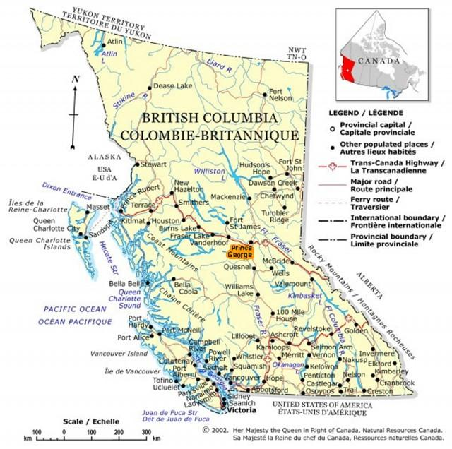 Atlin Map of BC
