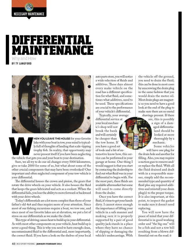 Differential Maintenance: Why and How by Ty Langford