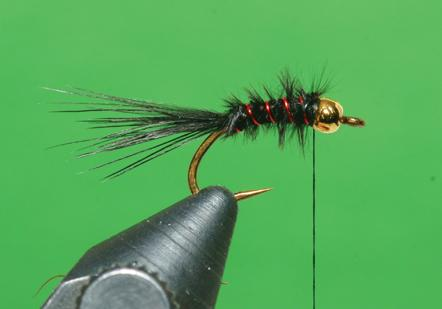 Step 5 tying instructions for the Micro Leech