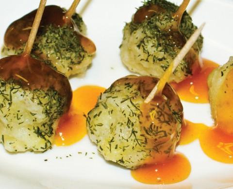 Fish dumpling appetizer