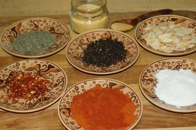 Seafood jambalaya ingredients