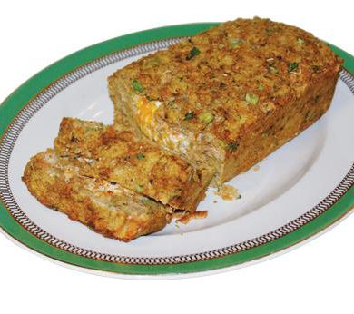 Savory Stuffed Salmon Loaf