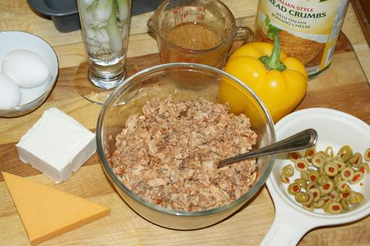 Savory stuffed salmon loaf ingredients