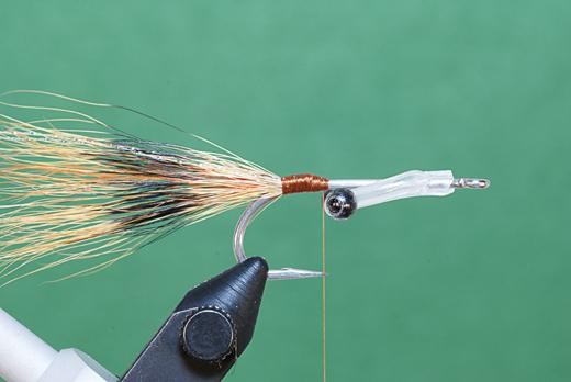 Step 2 tying instructions for the JC Crayfish