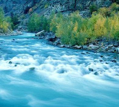The Fraser River along the Alaska Highway
