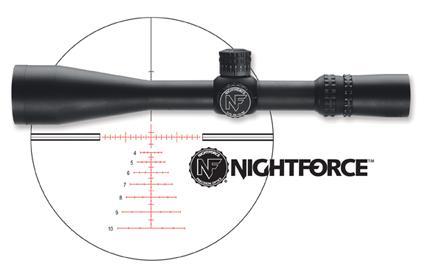 Nightforce Velocity 1000 yard reticle