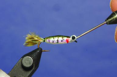 Step 6 tying instructions for the Foam Minnow