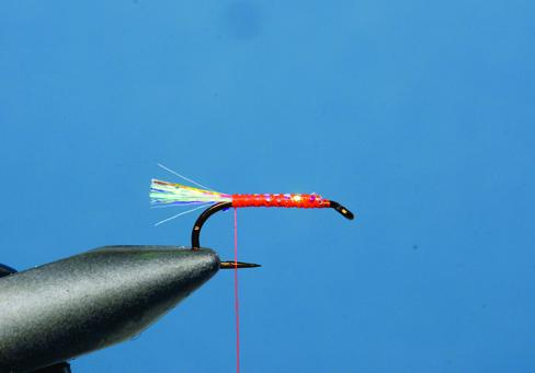 Step 1 tying instructions for the Blob
