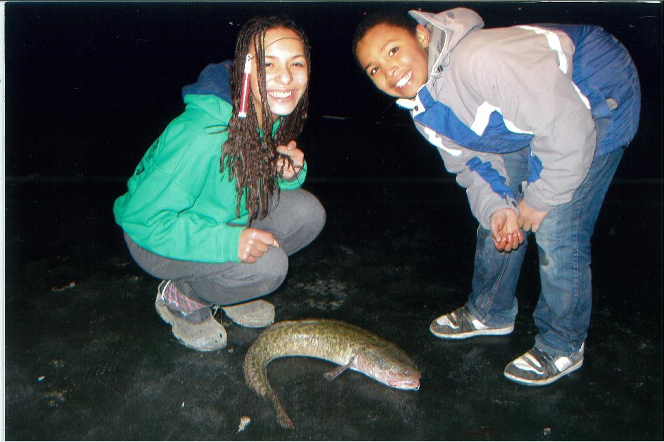 The girls and a burbot