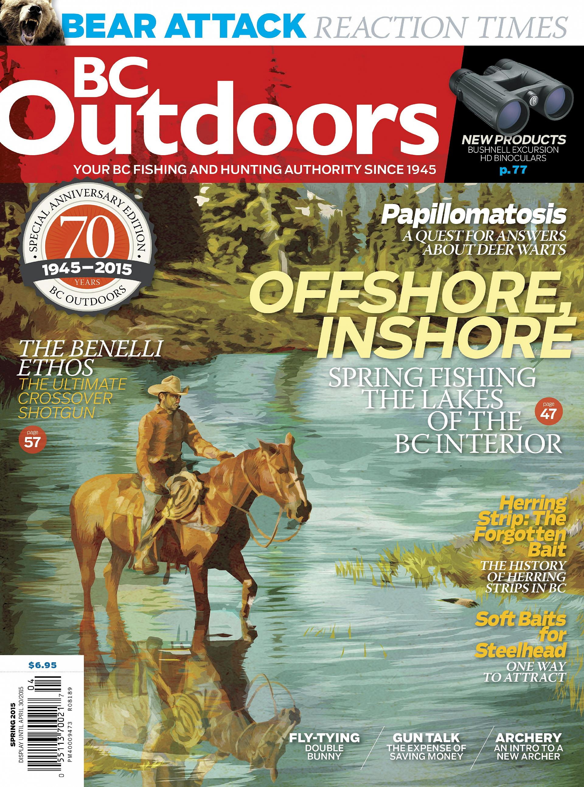 BC Outdoors Spring 2015 magazine cover