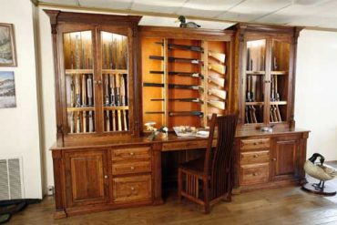 Amish Made Custom Gun Cabinet