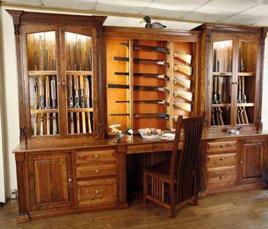 Amish Made Custom Gun Cabinet