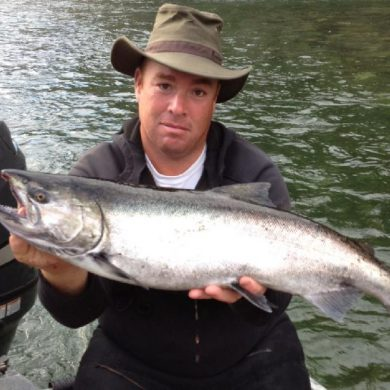 Chrome Stamp River Chinook Salmon