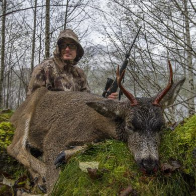 Blacktail shot with a rifle
