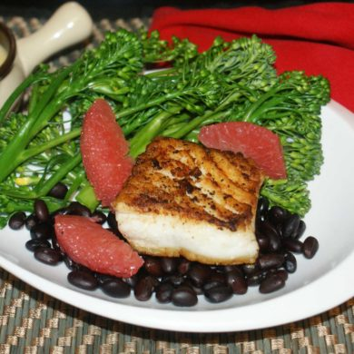 Pan-Seared Halibut With Grapefruit Butter Sauce