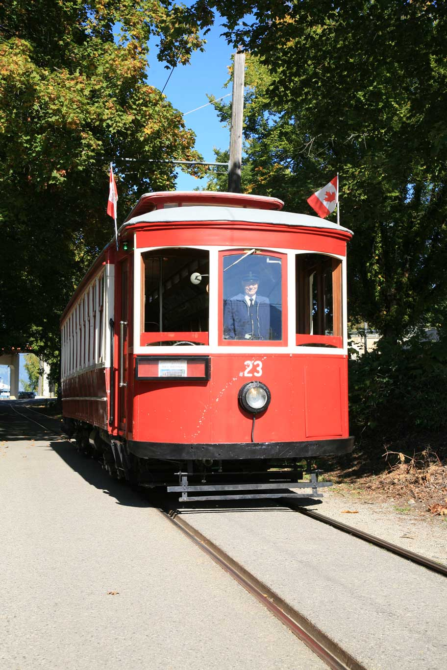 Be sure to hop aboard streetcar #23 in Nelson for a historic ride.