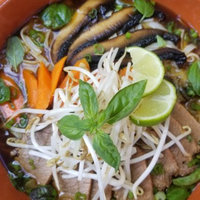 Elk Pho With Smoked Brisket