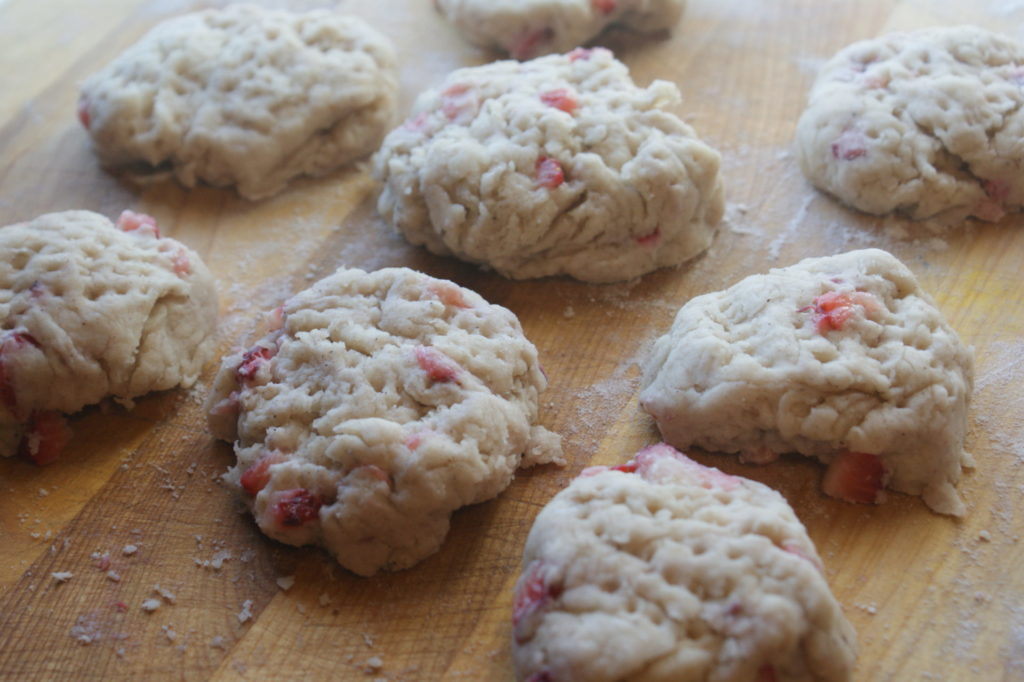 Strawberry bannock, ready to be fried.