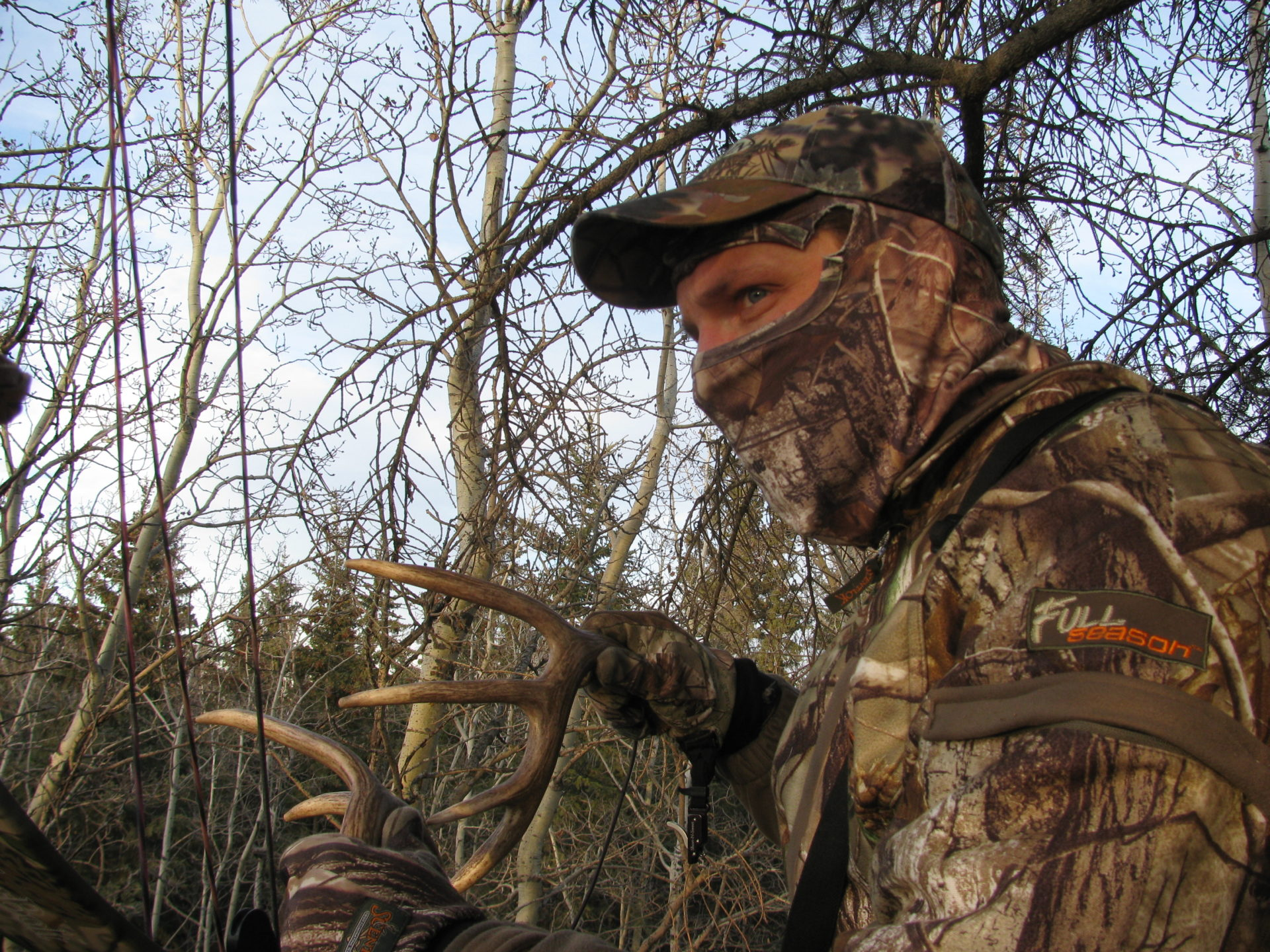 It's a good idea to bring antlers with you for rattling, or a deer call. You might not need them, but if you spot a deer on another trail and he's within earshot, it will be worth it to try.