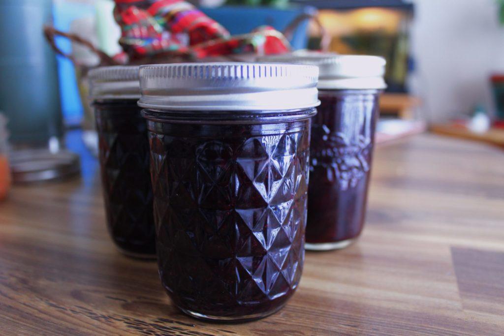 Honey-Sweetened Huckleberry Jam. Credit: Raeanne O'Meara.