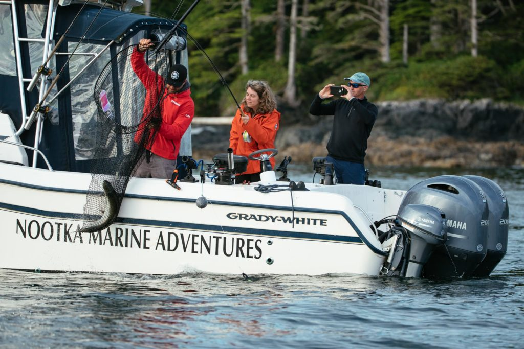 If 'big' is a word you associate with fishing, you will love fishing Nootka Sound.