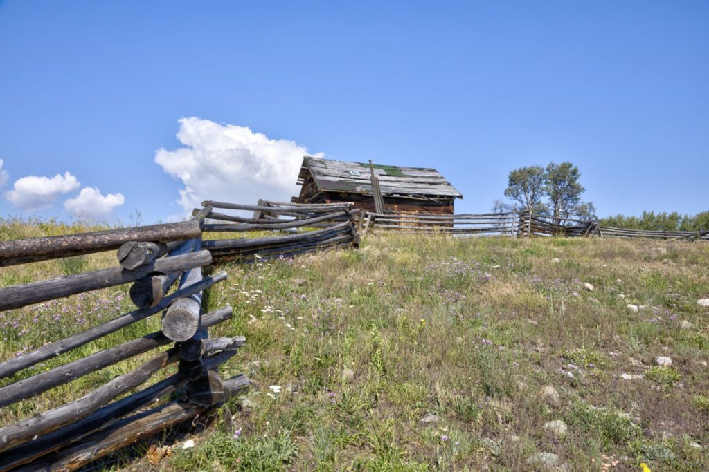 A pioneer homestead along Mamit Lake Road.