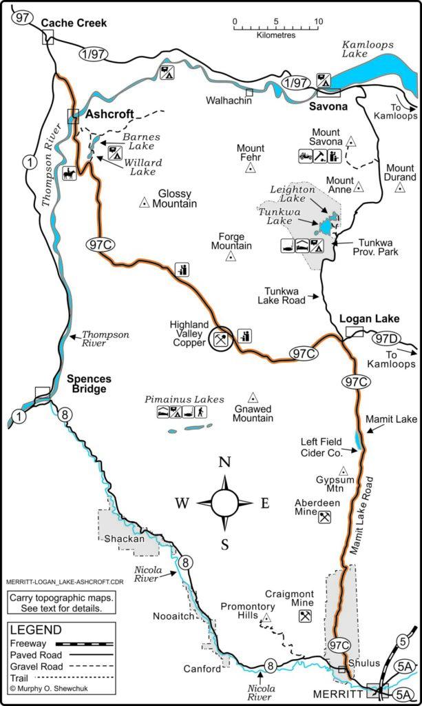 Merritt-Logan Lake-Ashcroft map.