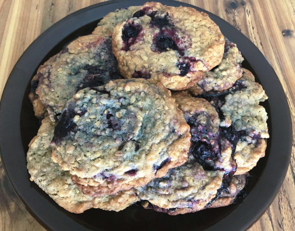 Huckleberry Oatmeal Cookies by Raeanne O'Meara.