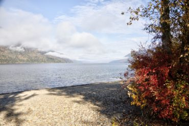 Mabel Lake in autumn.
