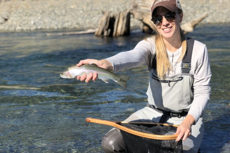 Sunshine and summer days. Although often associated with a summer fishery, dry-fly fishing begins in the spring and extends through the fall.