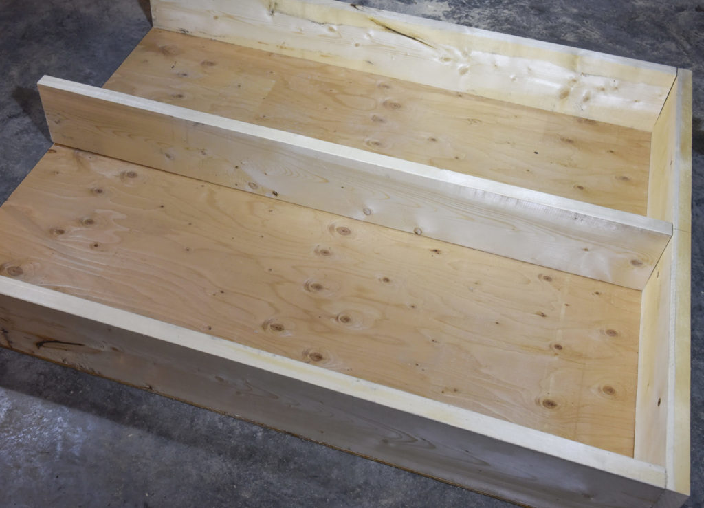 3.The first step was to cut the parts for the frame. Our build used 2x8 lumber and 3/8-inch plywood. Parts were cut for a custom fit to my truck bed.