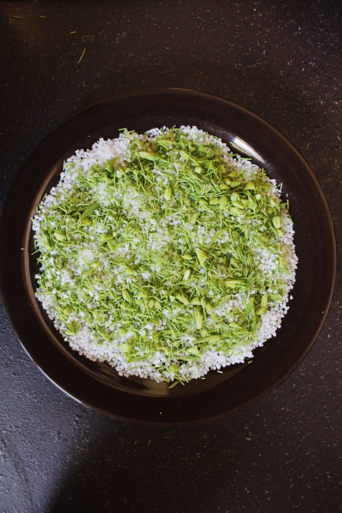 Spruce tip salt. Credit: Raeanne O'Meara.