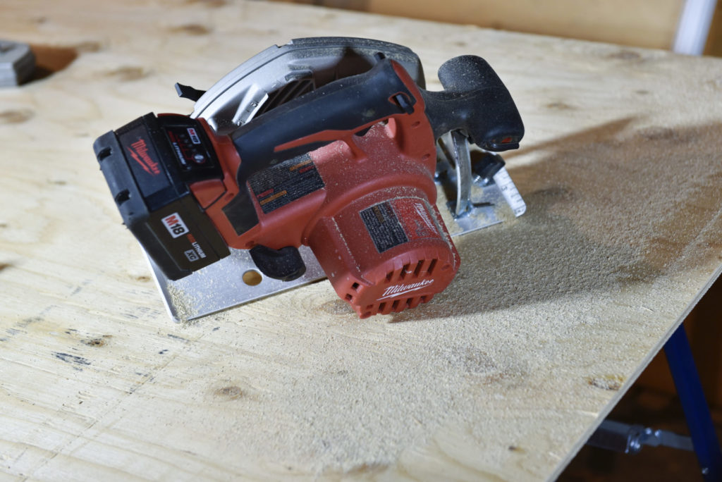 Most of the cutting for this project was completed using a circular saw.