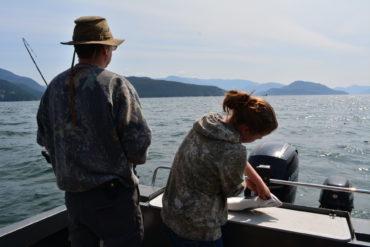 Fishing for food. Credit: Raeanne O'Meara.