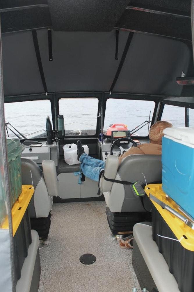 Inside the boat. Credit: Raeanne O'Meara.