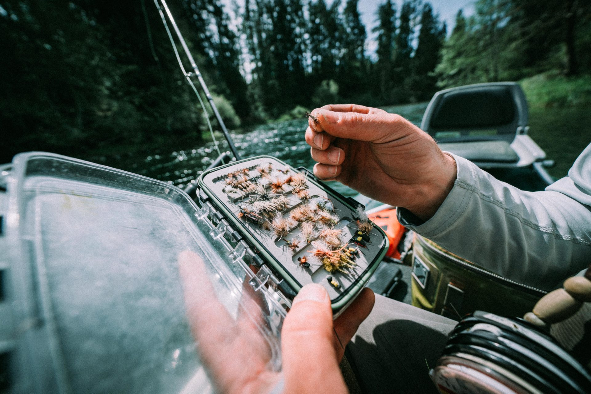 We've all had the experience of looking through our fly boxes, not knowing which direction to go next. If matching the hatch isn't providing results, switch it up. Photo by Chase White.