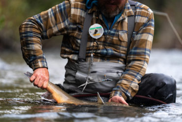 Properly maintaining your waders, and repairing them when necessary, means you'll have them for many future adventures. Photo by Chase White.