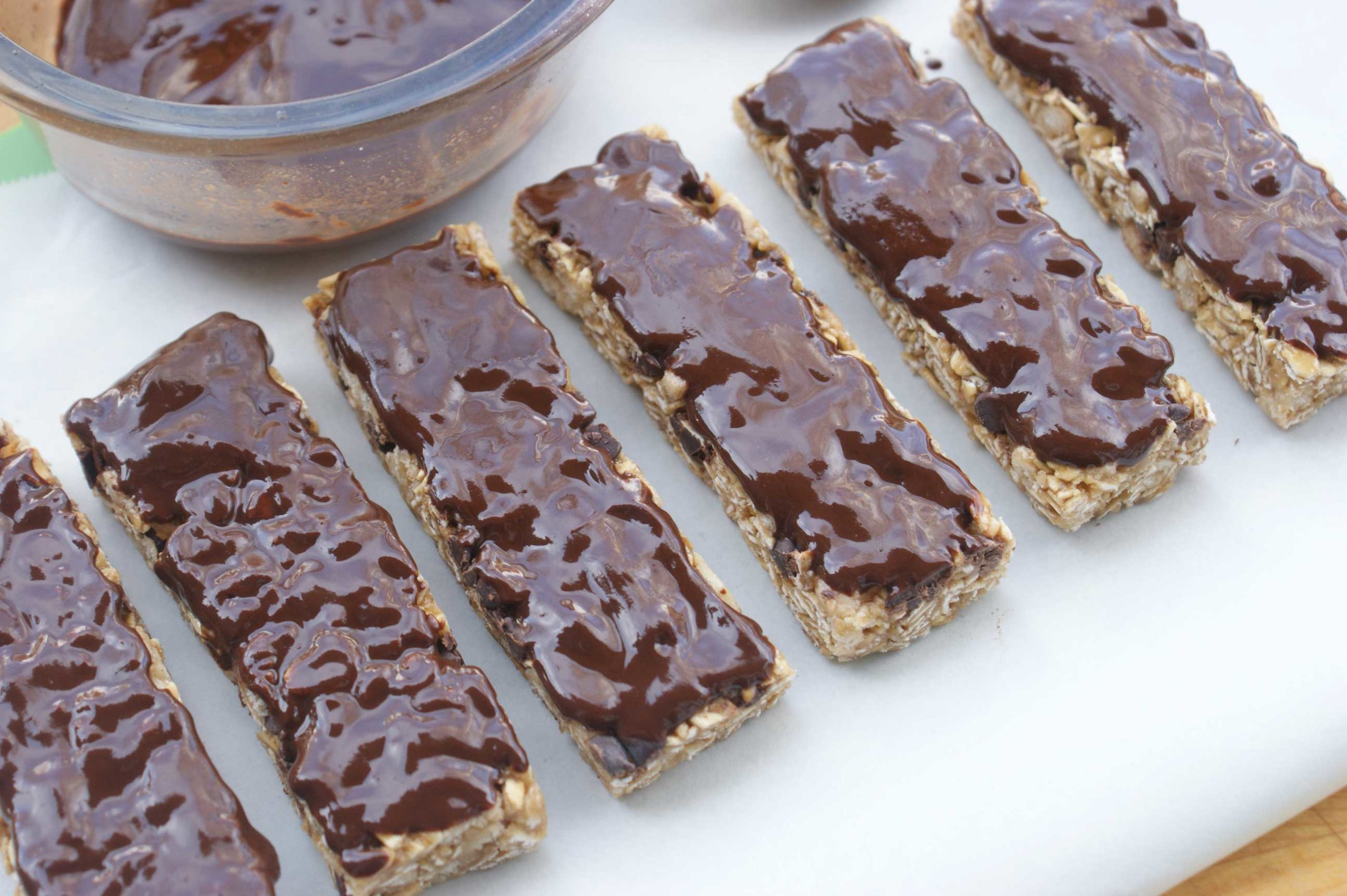 Chocolate-Topped Garbanzo Bean Bars