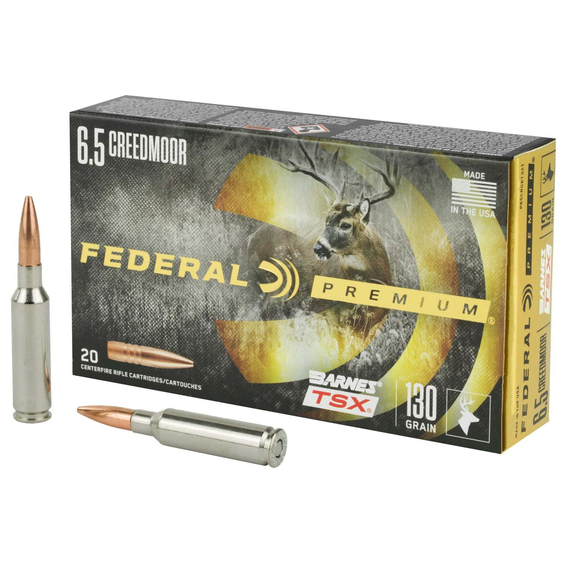 Federal Premium 130-grain Barnes TSX provided premium, varmint rifle-like accuracy and one-shot, dead-in-their-tracks kills on both an antelope and elk hunt.