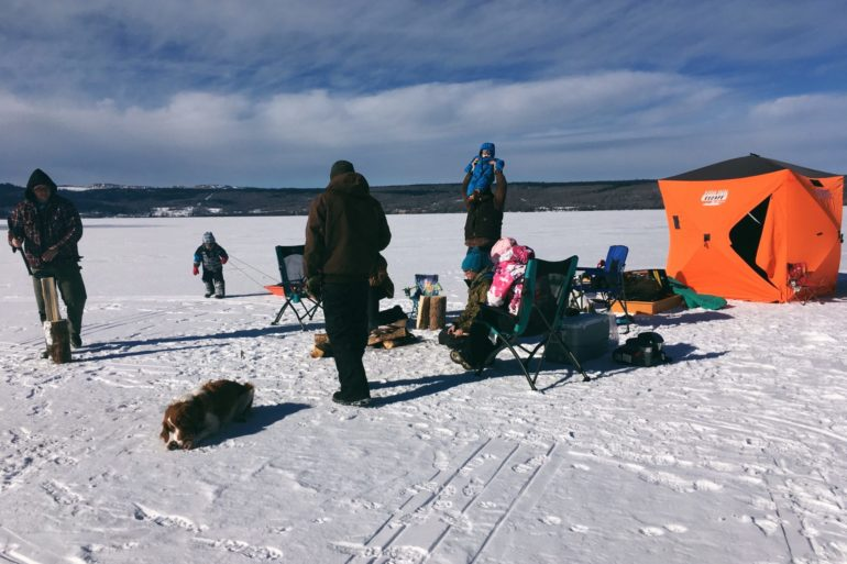 Ice fishing. Credit: Raeanne O'Meara.