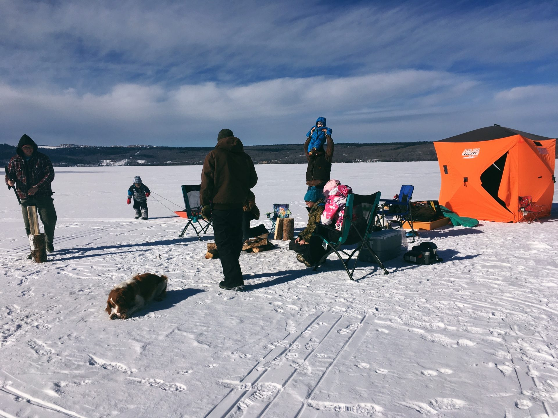 Ice fishing. Credit: Raeanne O'Meara.