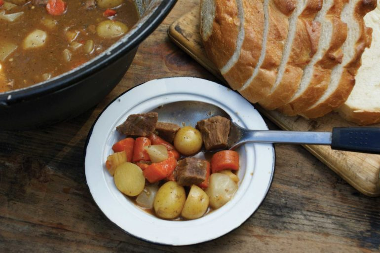 Dutch Oven Campfire Game Stew.