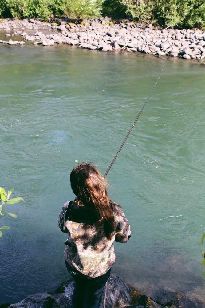 Raeanne O'Meara fishing.