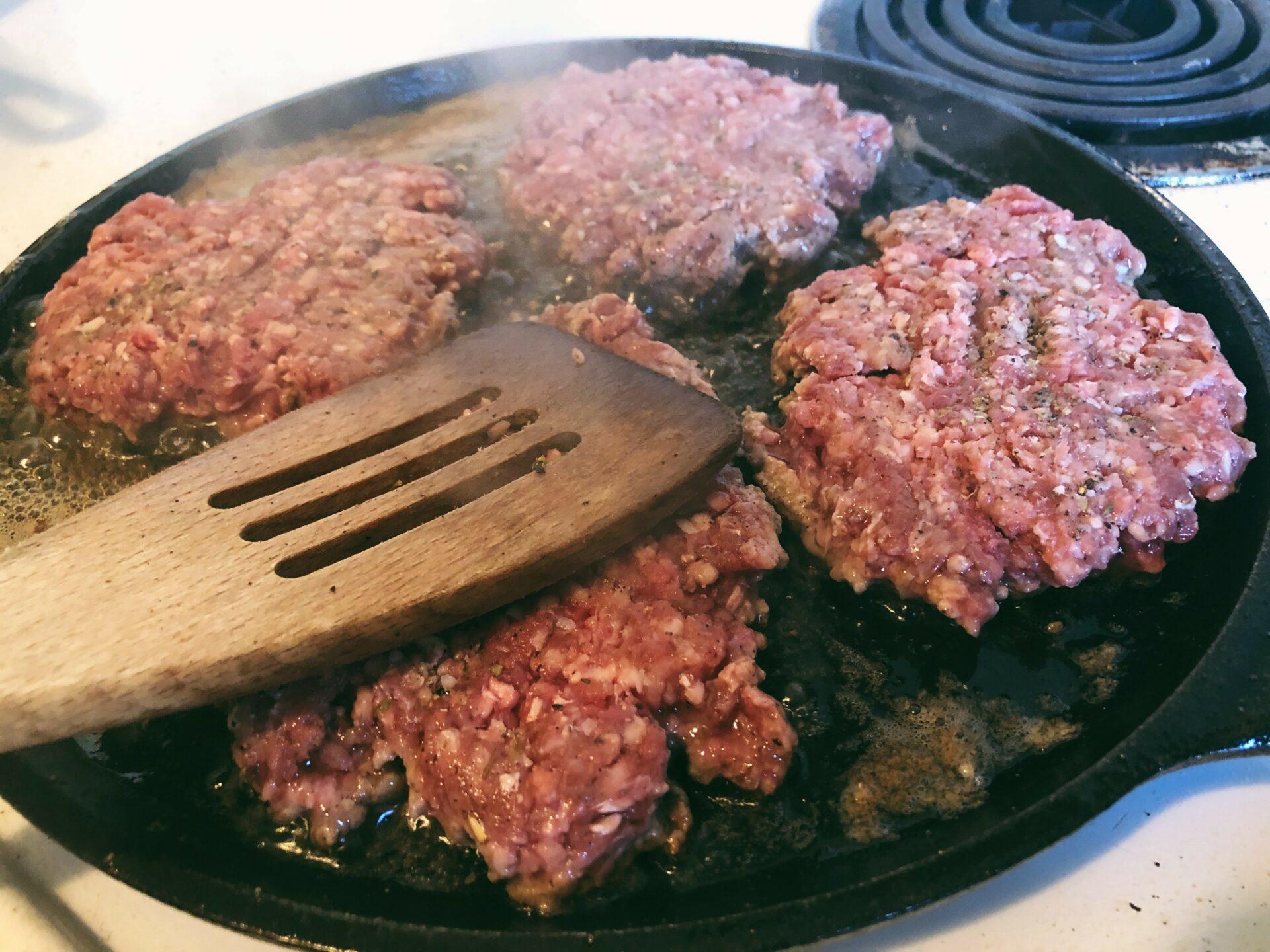 Venison Smash Burgers. Credit: Raeanne O'Meara.