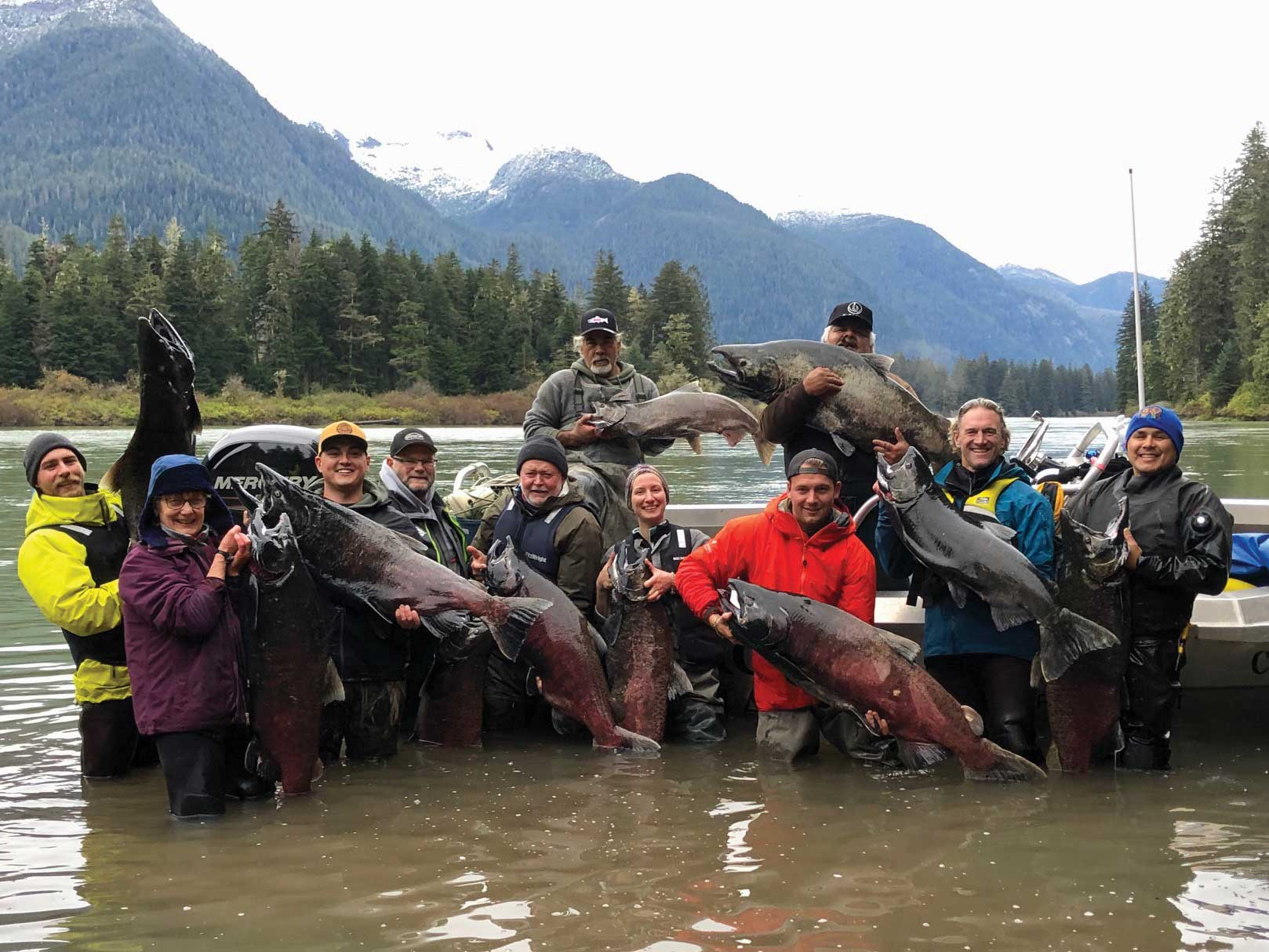 There are only two river systems in the world that are considered statistically significant for the production of salmon over 40 pounds – the Wannock and Kitsumkalum rivers.