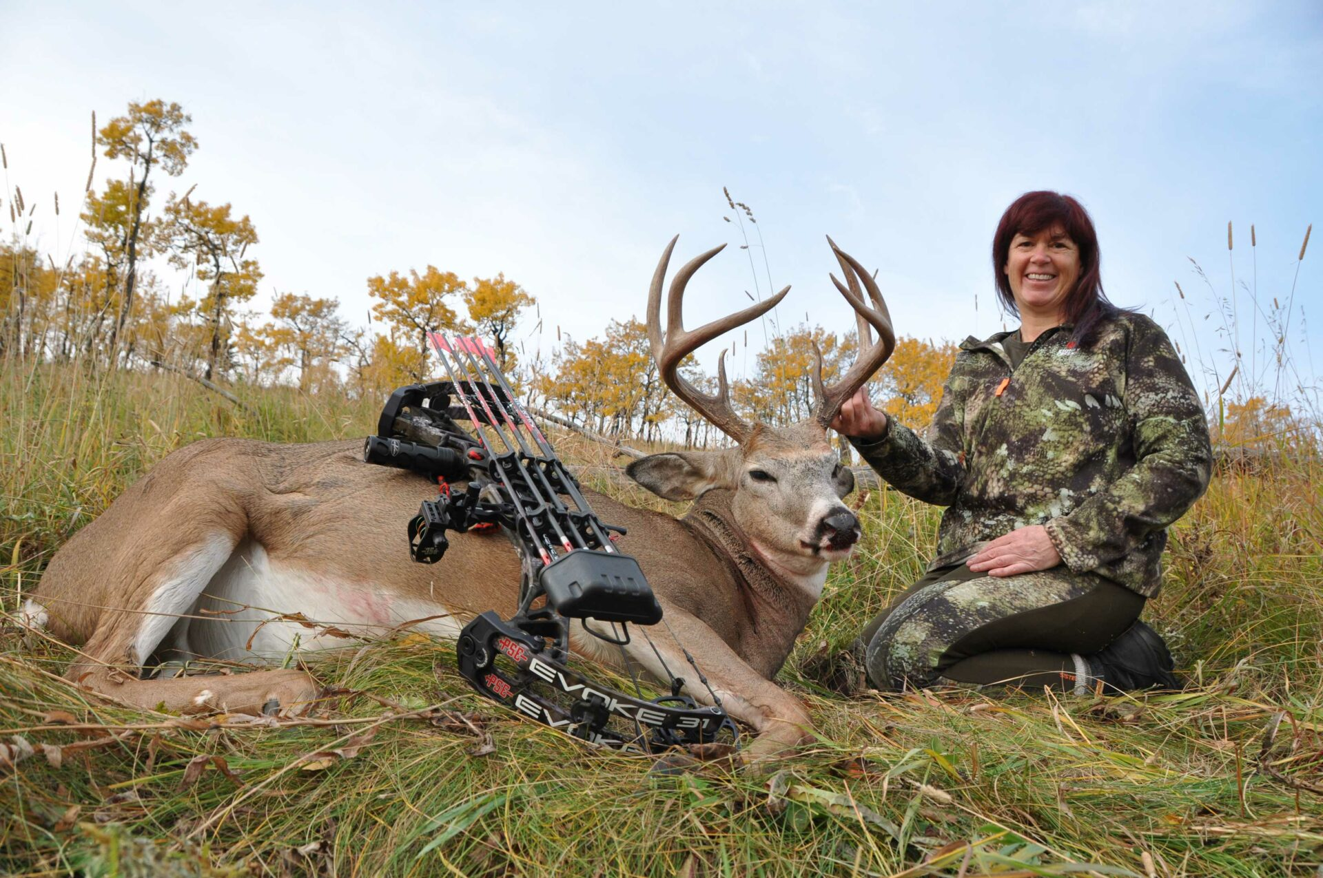 The author and her whitetail buck from 2020.